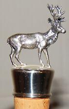 FLASCHENSTÖPSEL FLASCHENKORKEN HIRSCH Silber gepunzt G+K 925