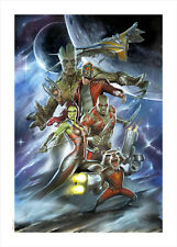 Marvel Fine Art Adi Granov Guardians (Guardians of the Galaxy) Giclee on Canvas