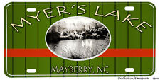 Mayberry Andy Griffith Myer's Lake NC Novelty Aluminum License Plate
