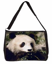 Panda Bear Large Black Laptop Shoulder Bag School/College, ABP-2SB