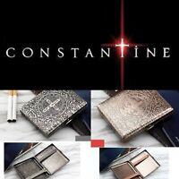 NEW CONSTANTINE CIGARETTE CASE BRASS VINTAGE BOX HOLDER GOTHIC RETRO PUNK BIKER