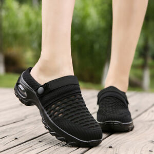 Women's Shoes Breathable Air Cushion Big Size Slip On Slippers Sneakers Summer D