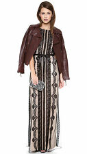 Alice by Temperley Black Botanical Maxi Dress Size 8    ,..#1