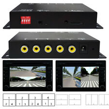 Car Parking Camera Image Combiner Splitter Front/Rear/Side View Video w/ Remote