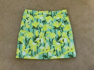 J. Crew Womens Yellow Floral Linen Mini Skirt - Size 10 - New