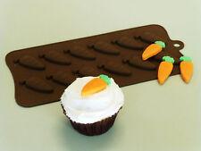 Zanahorias Chocolate Candy Bakeware del silicón Molde sugarpaste Pastel De Dulces Molde Pan