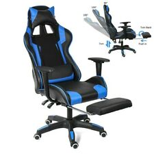 Stylish High Back Racing Gaming Chair Recliner Computer Laptop Desk PU Leather~