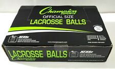Champion 12 Pack Official Rubber Lacrosse Balls Nfhs & Ncaa Approved, Yellow