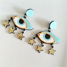 Acrylic Oversized Big Exaggerate Dangle Earrings Female Hip Hop Jewelry Gift Eyes Stars