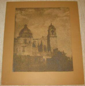 Antique HENRY RAVELL Temple Valenciana MEXICO Architecture Gum Bichromate PHOTO