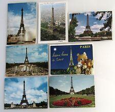 7x PARIS Turm Tour Eiffel Eiffelturm Frankreich Cartes Postales CPA Postkarten