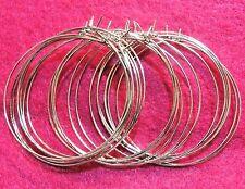 "100Pcs. WHOLESALE Silver 44mm / 1-3/4"" Earring HOOPS  Tibetan EH12A"