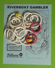 1990 Williams Riverboat Gambler pinball rubber ring kit