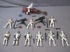 Star Wars CLONE TROOPER + SPEEDER BIKE Attack of the Clones Action Figure Lot