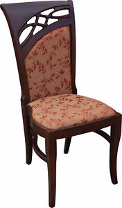 Luxury Design Pads Chair Chairs Seat Lehn Office Dining Room Wood K51 New