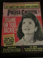 Police Gazette Magazine January 1969 Jackie Kennedy Joe Namath Sex Habits