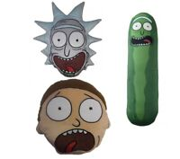 Official Rick and Morty & Pickle Rick Shaped Spandex Bead or Plush Cushion Gift