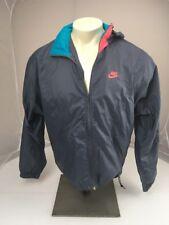 EUC VTG 90s Nike Grey tag Retro full zip hooded windbreaker NEON Grey jacket M