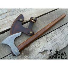 Damascus steel Long beard hunting axe / out door axe