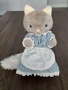 Vintage Eden Plush Cat in Blue Dress Henrietta Pussycat Mr. Rogers?
