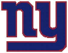 Counted Cross Stitch Pattern, New York Giants Logo - Free US Shipping