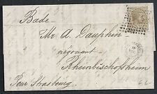 Spain covers 1878 folded letter Bagur to Rheinbischofsheim