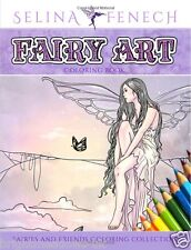Fairy Art Adult Colouring Book Creative Therapy Relax Anxiety Depression aid NEW