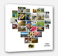 photo canvas Print  image prints Personalised Butterfly Shape Collage Canvas