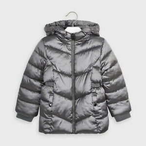Mayoral Girl Padded Coat in Titanium (4420) Aged 2-8 Years