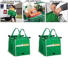 2 x FORTE RIUTILIZZABILI carrello spesa supermercato BIG BAGS GRANDE afferra Bag New