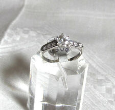 Vintage Diamond 14k White Gold Engagement Ring 1930's  40's