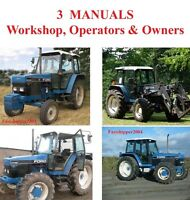 Ford New Holland 5640 6640 7740 7840 8240 8340 Tractors Service Manual Operators