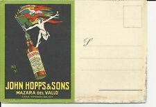 CARTOLINA PUBBLICITA' MARSALA JOHN HOPPS & SONS MAZARA