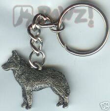 Siberian Husky Dog Pewter Keychain Key Chain Ring New