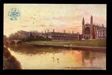 Cambs CAMBRIDGE Railway GER OFFICIAL Clare College vintage PPC