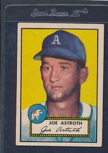 1952 Topps #290 Joe Astroth A's VG/EX (Paper Loss) 52T290-81916-1