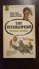 "Donald Hamilton, ""Interlopers,"" 1969, Gold Medal T2073, VG, 1st"