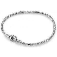 PANDORA 590702HV-20 Sterling Silver Barrel Clasp Bracelet 7.9-Inch