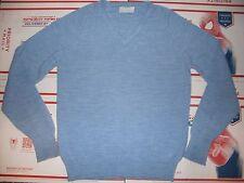 CHRISTIAN DIOR Mens 100% SOFT ACRYLIC Blue V-neck Sweater L NICE