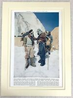 1953 Vintage Print Everest Expedition Edmund Hillary Sherpa Tenzing Norgay