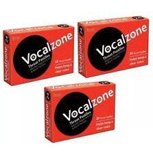 3 X Vocalzones Vocalzone - 24 Throat Pastilles Helps Keep A Clear Voice