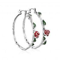 Charm Women's 925 Silver Crystal Lovely Small Flower Ear Stud Earrings Solid CA