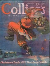 1939 Colliers Cover December 30 - Santa Claus tries to catch the travel trailer
