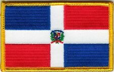 Dominican Republic Color Flag Patch VELCRO® BRAND Hook Fastener Compatible