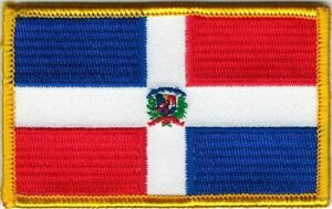 République Dominicaine Couleur Drapeau Patch hook & loop tape Crochet Fermeture