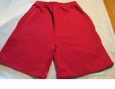 Jogging Sweat Short Size Medium Red 2 pocket 50 Cotton/50 Polyester