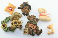 Boyds bears Avon GGI Bear pin brooch lot 6 piece Halloween sunflower hearts