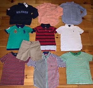 Boys 5 Ralph Lauren Tommy Hilfiger Clothes Lot 10 Pieces Shirts Shorts