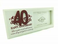 Photo Frame 40th Anniversary Ruby Wedding Gift Parents Grandparents Gift F0750