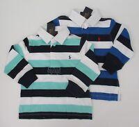 NWT Ralph Lauren Boys Long Sleeve Striped Jersey Rugby Shirt 14/16 18/20 NEW $50